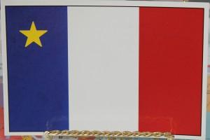 acadian flag postcard